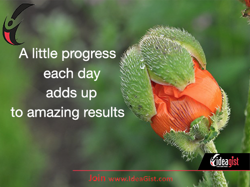 Progress: a little each day adds up to amazing results