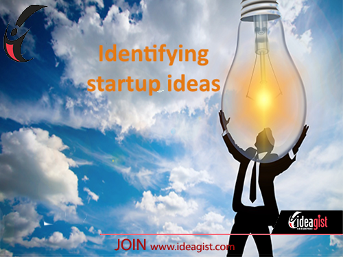 Identifying startup ideas