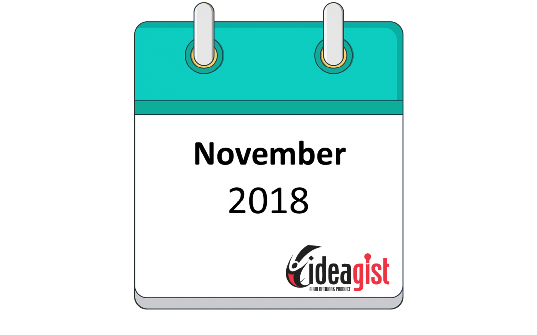 IdeaGist Newsletter – November 2018