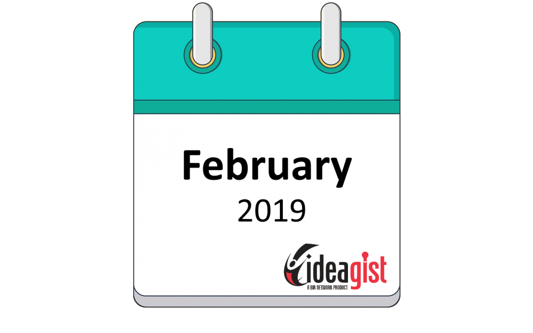 IdeaGist Newsletter – February 2019