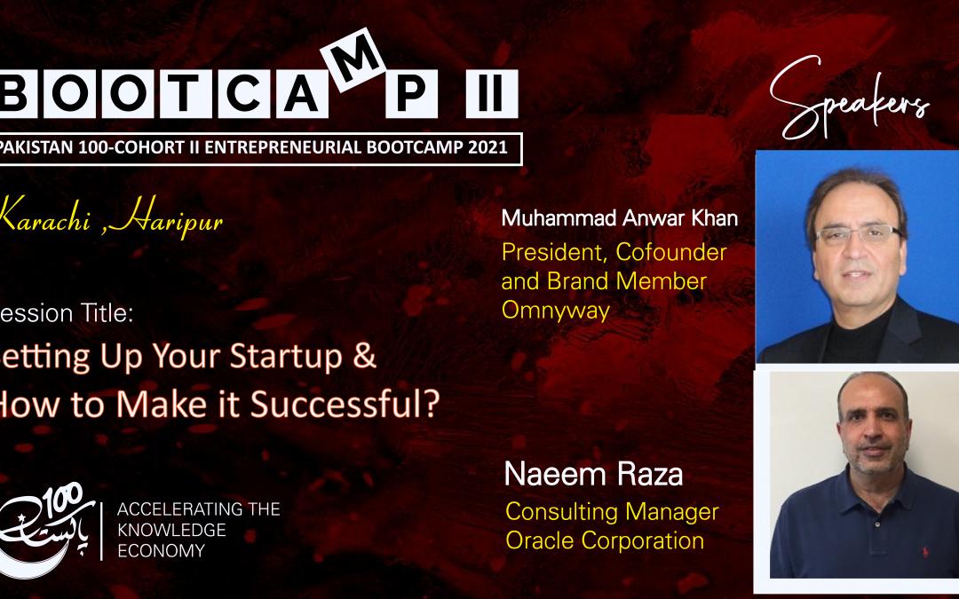 Bootcamp Speaker-Anwar Khan & Naeem Raza